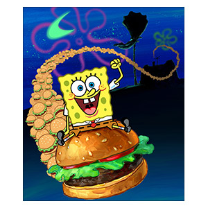 SpongeBob Squarepants. Размер: 25 х 30 см